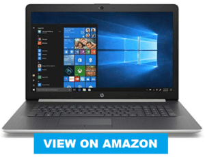 image of HP laptop with a large screen