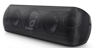 screenshot of bluetooth speaker in black color