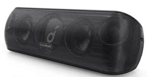 screenshot of bluetooth speaker in black color
