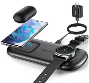 image of black wireless charger accessory for iphone