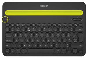 image of black bluetooth keyboard
