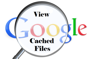 search for cache files in Google Chrome