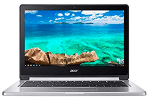 screenshot of Acer laptop in silver and black combination