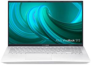 image showing laptop with white keyboard