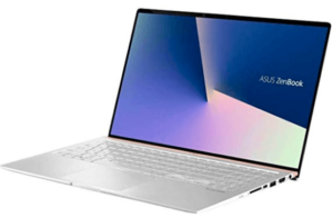 picture of ultrabook with silver keyboard