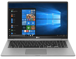 image of LG silver and black laptop