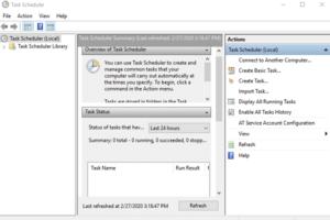 task Scheduler windows10