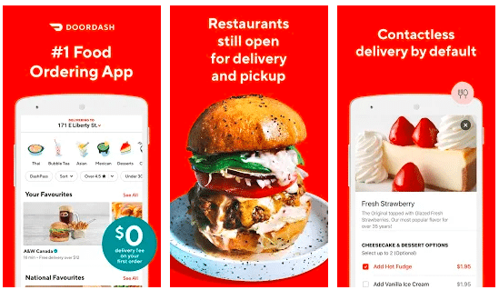 image showing food app