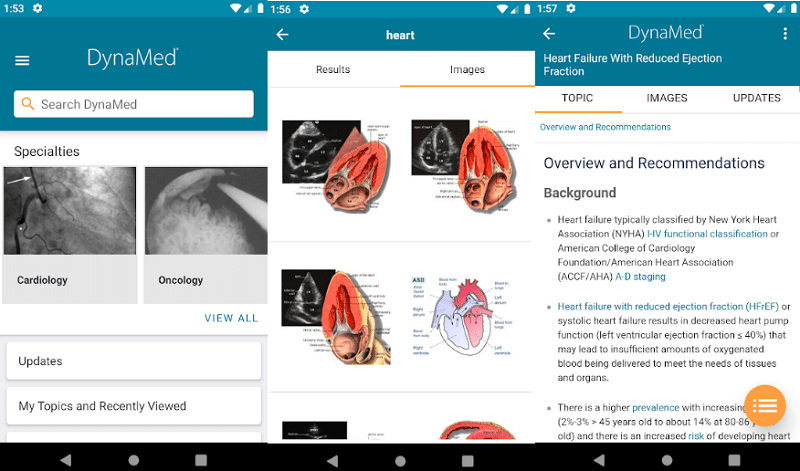 image showing screenshots of medical app