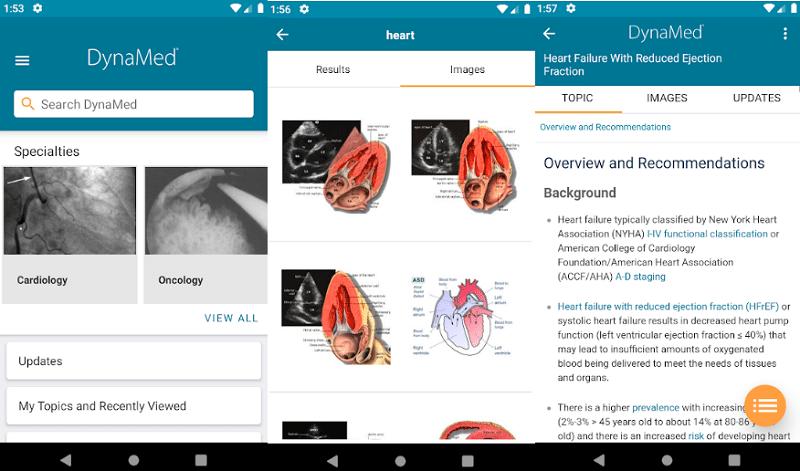 image showing screenshots of medical app