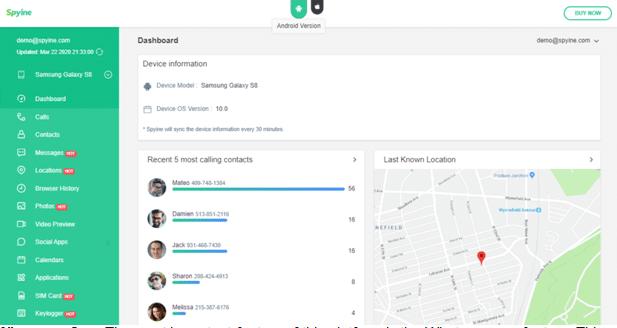 spying software screenshot