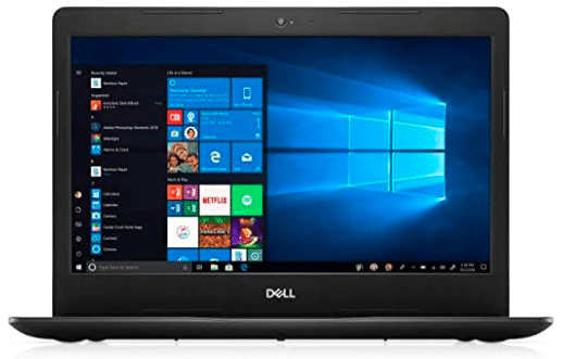 image showing dell laptop with windows startup screen