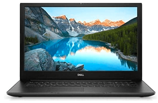 image of dell laptop with 17 inches screen