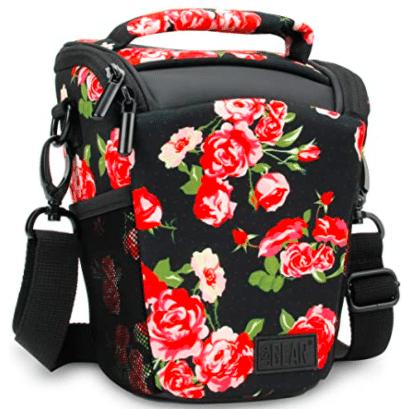 floral camera bag