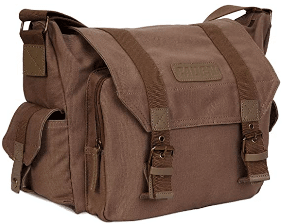 brown camera bag from caden brand