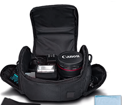 image of black camera bag