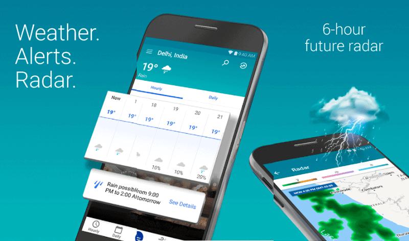 mobile showing flood app