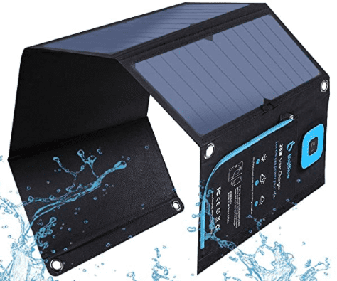 image of solar powered portable  charger