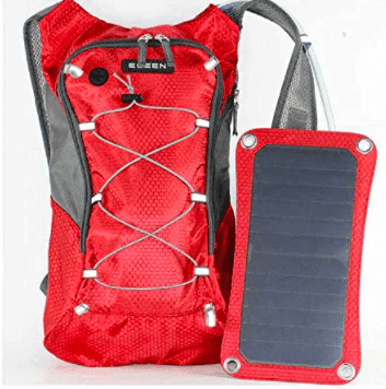 image of red solar backpack