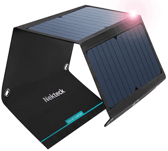 picture showing folded solar charger