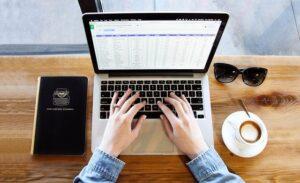 microsoft office on laptop
