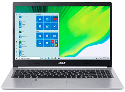 front view of acer laptop