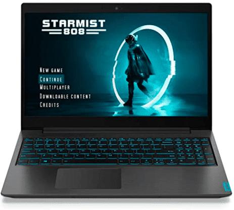 screen shot showing Lenovo laptop's front screen