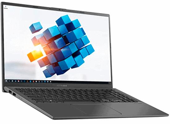 laptop's screen showing design